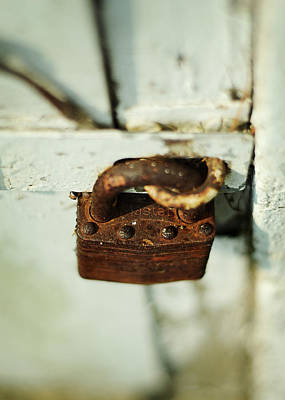 Rural Scenes Photograph - Master Lock by Rebecca Sherman