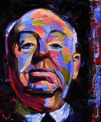 Film Maker Painting - Master Of Suspense by Debra Hurd