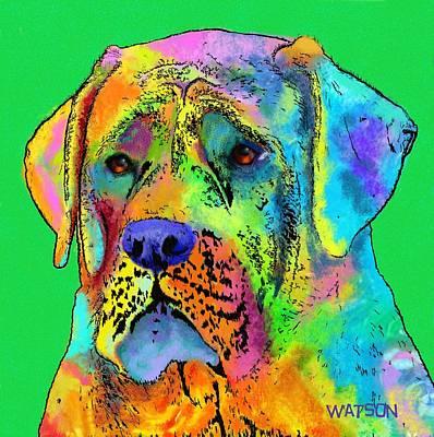 Mastiff Print by Marlene Watson