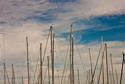 Photograph - Masts Of Chicago Harbor by John Pike