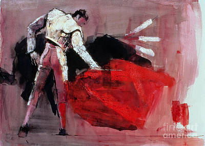 Bull Mixed Media - Matador by Mark Adlington
