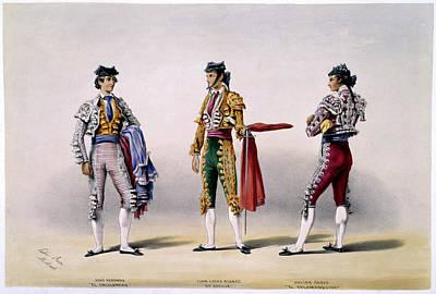 Bullfighter Photograph - Matadors by British Library