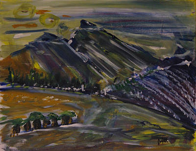 Matara Mountians Original by Pamela Cooper