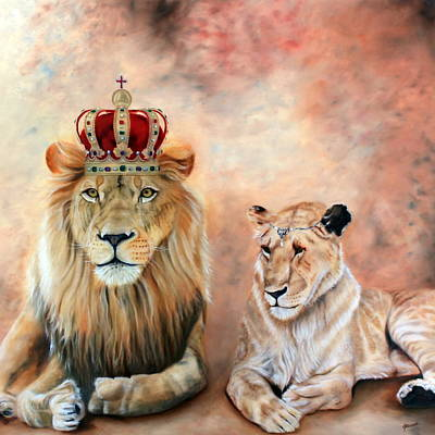 Lion Of Judah Painting - Match Made In Heaven by Jeanette Sthamann