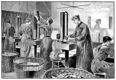 Matchstick Factory Print by Science Photo Library