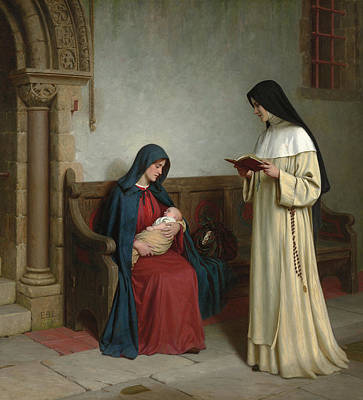 New Born Painting - Maternity by Edmund Blair Leighton