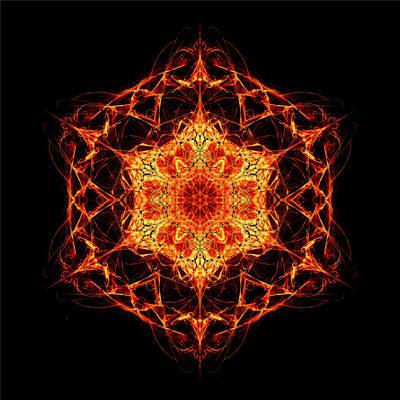 Algorithmic Digital Art - Math Mandala II by Sander Kleynend