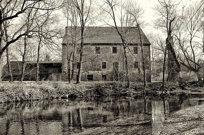 Grist Mill Digital Art - Mather's Grist Mill by Bill Cannon