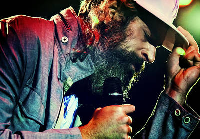 Matisyahu Live In Concert 7 Print by The  Vault - Jennifer Rondinelli Reilly