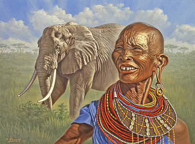 Kenya Painting - Matriarchs   by Paul Krapf
