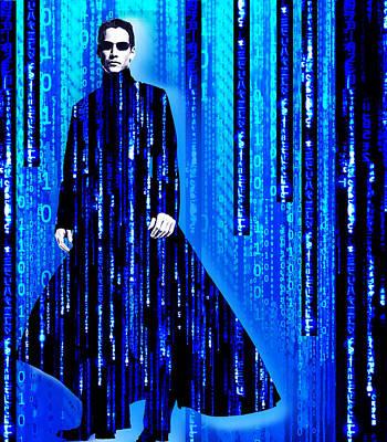 Matrix Neo Keanu Reeves 2 Original by Tony Rubino