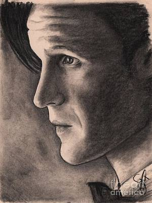 Doctor Who Drawing - Matt Smith by Rosalinda Markle