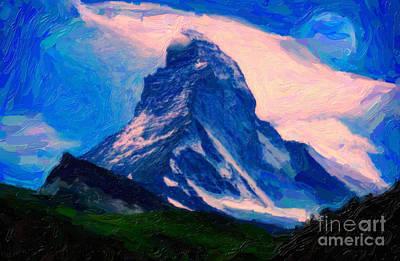 Composite Painting - Matterhorn Peak by Celestial Images