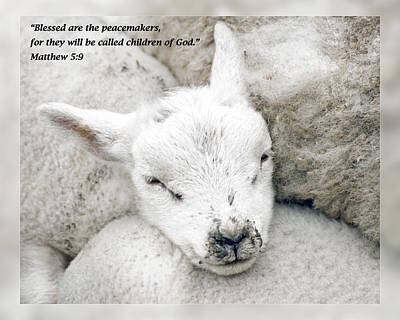 Matthew 5 9 Print by Dawn Currie