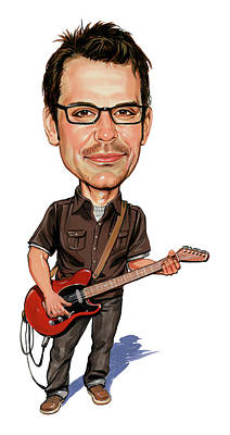Caricatures Painting - Matthew Good by Art