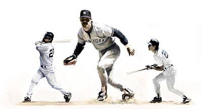 Yankees Drawing - Mattingly Don Mattingly by Iconic Images Art Gallery David Pucciarelli