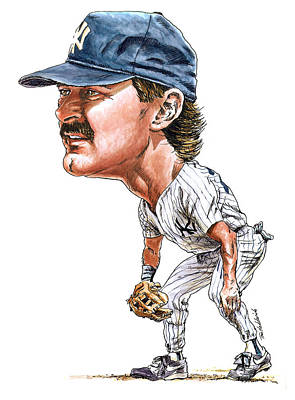 Ny Yankees Painting - Mattingly by Tom Hedderich