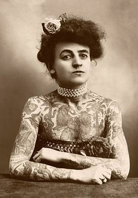 Maud Wagner Print by Library Of Congress
