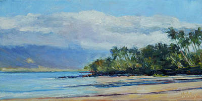 Haleiwa Painting - Maui Morning Glow by Stacy Vosberg