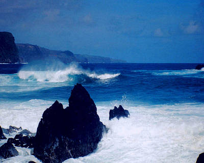 Horizontal Photograph - Maui Shore At The Keanae Pennisula by J D Owen