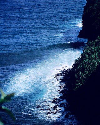 Ocean Photograph - Maui Shoreline On The Way To Hana by J D Owen