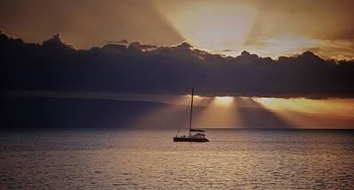 Maui Sunset Cruise Print by Hawaii  Fine Art Photography