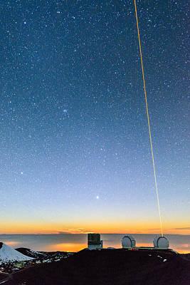 Keck Photograph - Mauna Kea Moonset 2 by Jason Chu