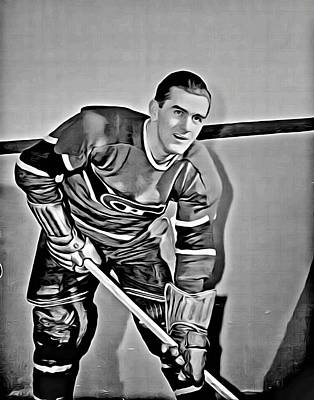 Maurice Painting - Maurice Richard by Florian Rodarte