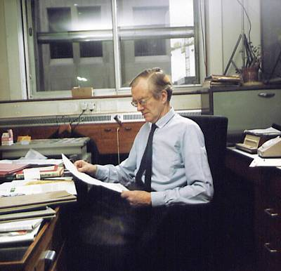 Maurice Photograph - Maurice Wilkins by King's College London Archives