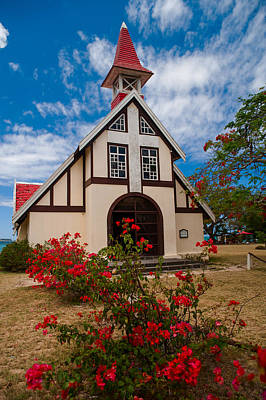 Red Roof Photograph - Mauritian Catholic Church.  Notre Dame Auxiliatrice by Jenny Rainbow