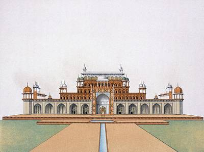 Great Drawing - Mausoleum Of Akbar The Great At Sekandra by German School