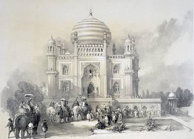 Elephant Drawing - Mausoleum Of Jufhir Junge, Delhi by English School