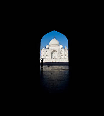 Mausoleum Viewed Through An Arch, Taj Print by Panoramic Images