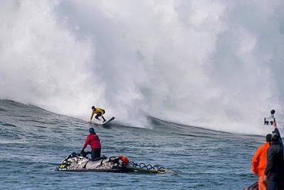 Half Moon Bay Photograph - Mavericks Invitational 2014 Series 12 by Josh Whalen