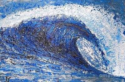 Jay Moriarity Painting - Mavericks Wave by RJ Aguilar