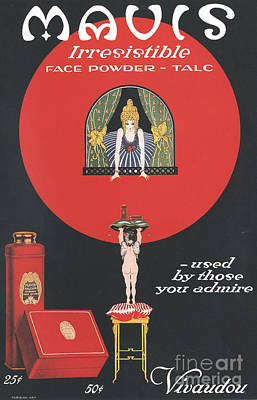 Nineteen-tens Drawing - Mavis Vivaudou�s 1910s Usa  Talcum by The Advertising Archives