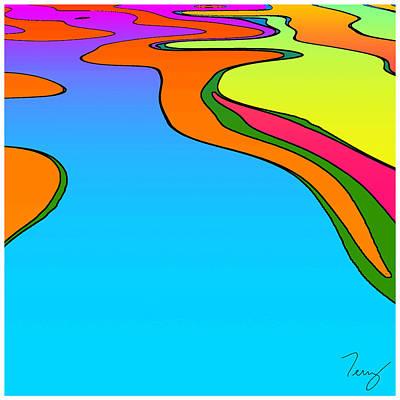 Peter Max Digital Art - Max 01 by TW Barker