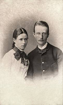 Oblique Photograph - Max Planck And Wife by American Philosophical Society
