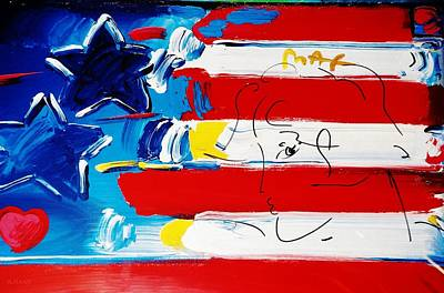 Peter Max Photograph - Max Stars And Stripes by Rob Hans