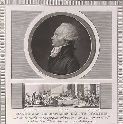 Uprising Photograph - Maximilien Robespierre by British Library