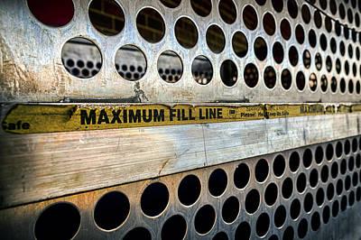 Wood Pallet Flag Photograph - Maximum Fill by Sennie Pierson