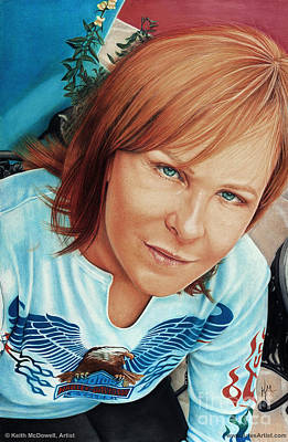 Elton John Drawing - Maxine Taupin  @ Ariesartist.com by AriesArtist Com
