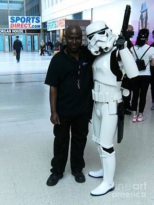Stratford Mixed Media -  Star Wars Stormtrooper And  Mudiama by Mudiama Kammoh