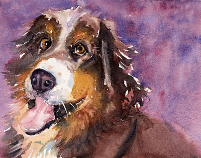 Burmese Python Painting - May The Mountain Dog by Judith Levins