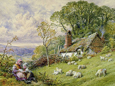 Lambing Painting - May Time by William Stephen Coleman