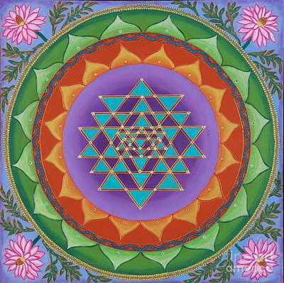 Sri Yantra Painting - May We Speak Peace by Jennifer Kline