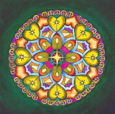 Star Burst Painting - May Your Heart Find Peace by Vikki Reed
