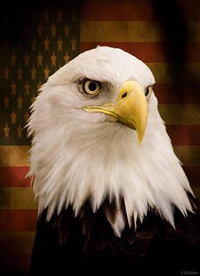 4th July Digital Art - May Your Heart Soar Like An Eagle by Jordan Blackstone