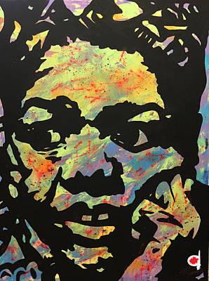 Black History Painting - Maya Angelou - The Poet by Chelsea VanHook