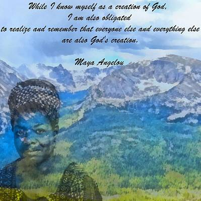 Mountain Mixed Media - Maya Angelou Tribute by Dan Sproul